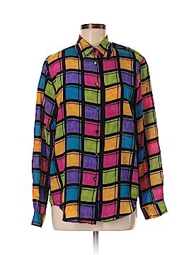 Christie & Jill Long Sleeve Silk Top Size 6