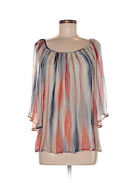 Akiko 3/4 Sleeve Silk Top Size S