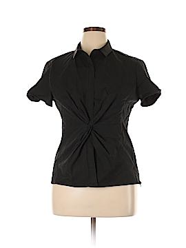 Elie Tahari Short Sleeve Button-Down Shirt Size XL