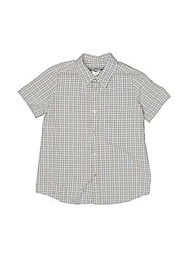 Bonpoint Short Sleeve Button-Down Shirt Size 4