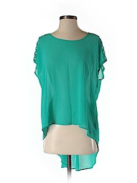 Chris & Carol Short Sleeve Blouse Size M