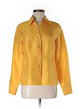 Robbie Bee Long Sleeve Silk Top Size M