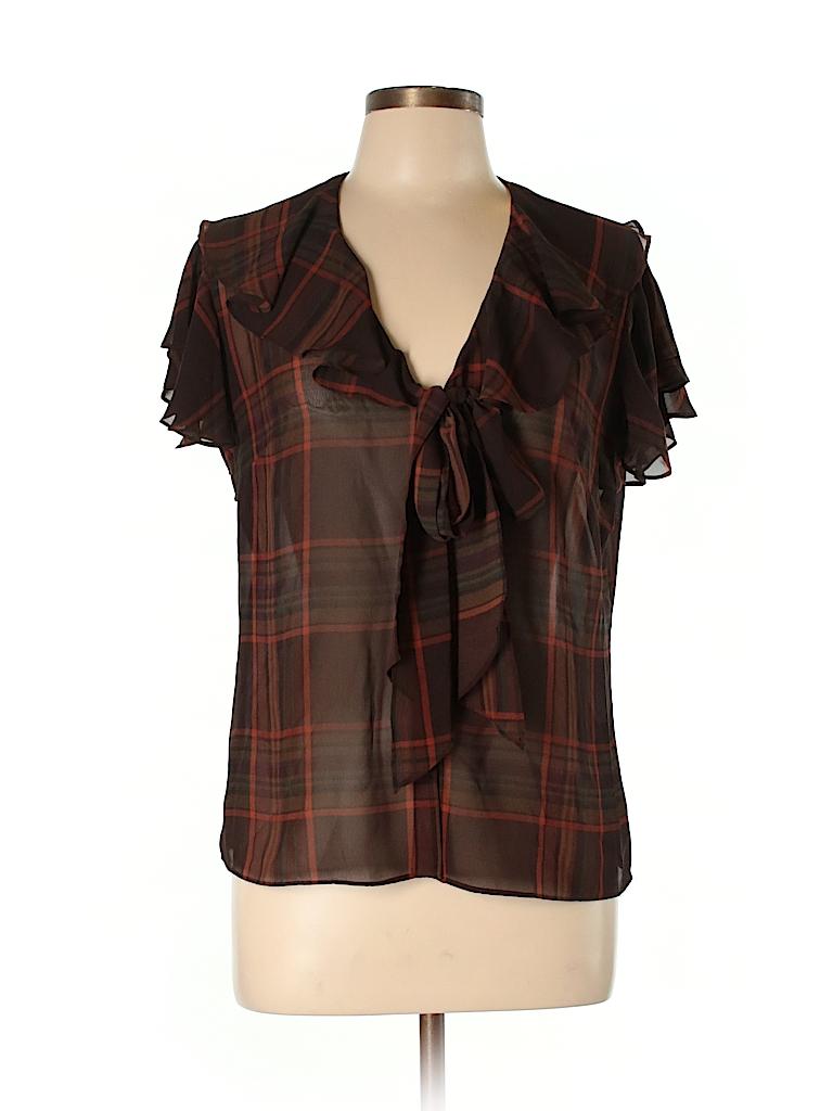 American Living Women Short Sleeve Blouse Size L