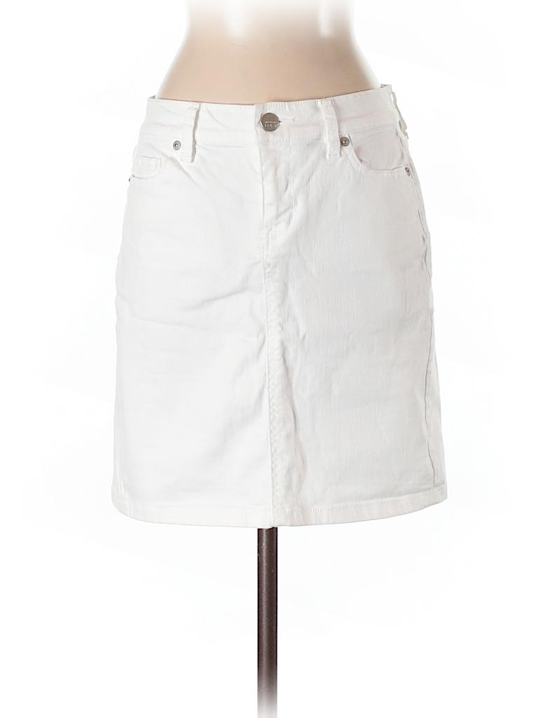 e1967d7d55 Ann Taylor LOFT Solid White Denim Skirt Size 00 - 81% off | thredUP