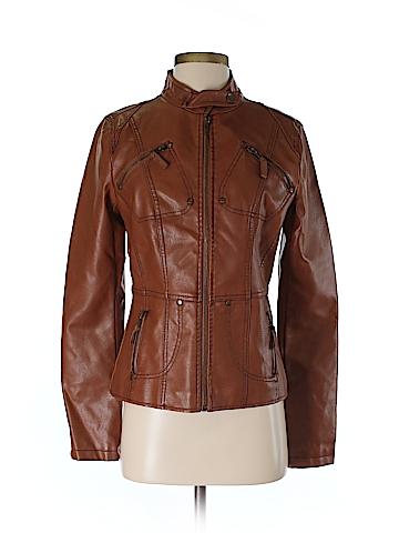 Frida G London Faux Leather Jacket Size S
