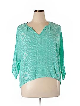 Bobeau 3/4 Sleeve Blouse Size XL