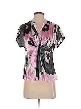 Anne Klein Short Sleeve Silk Top Size S