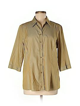 Thomas Pink 3/4 Sleeve Button-Down Shirt Size M
