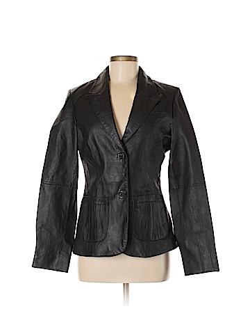 Metro Style Leather Jacket Size 6 (Tall)