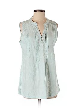 Saint Tropez West Sleeveless Button-Down Shirt Size S