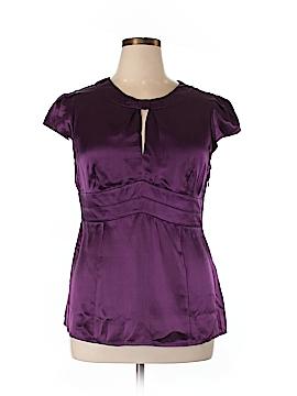 Nine West Short Sleeve Silk Top Size 14