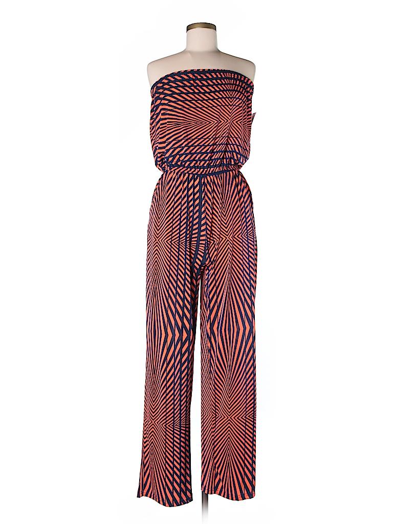 4b1097a2fc2 Mlle Gabrielle Print Orange Jumpsuit Size M - 38% off