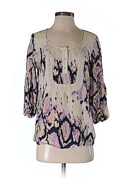 Petticoat Alley 3/4 Sleeve Silk Top Size S