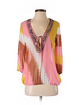 INC International Concepts 3/4 Sleeve Blouse Size 4
