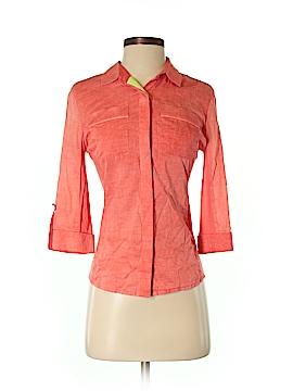 Elie Tahari 3/4 Sleeve Button-Down Shirt Size XS