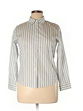 Charter Club Long Sleeve Button-Down Shirt Size 14 (Petite)