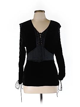 Catherine Malandrino Long Sleeve Silk Top Size L