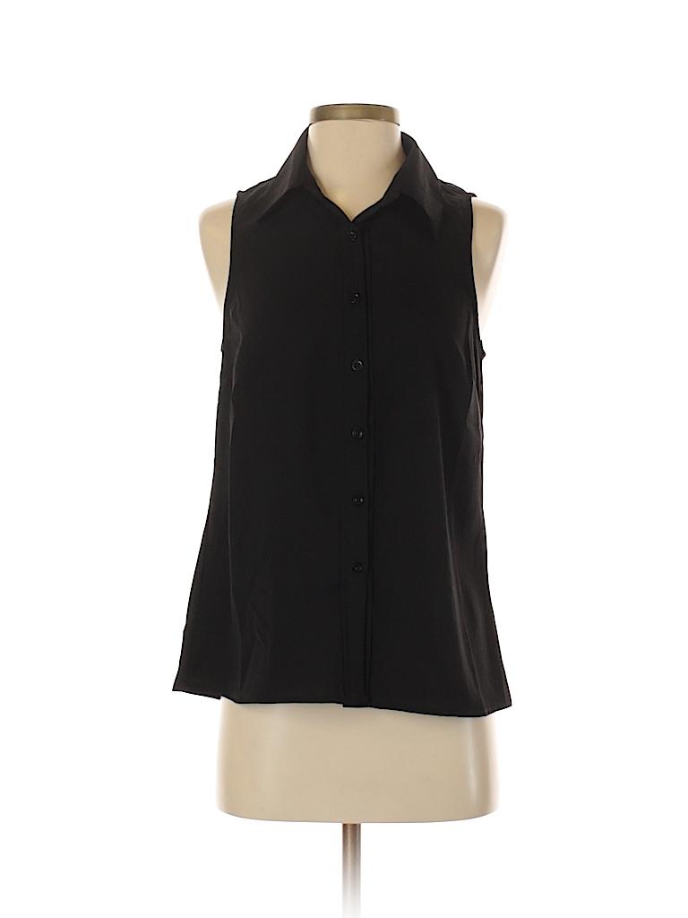 Coincidence & Chance Women Sleeveless Button-Down Shirt Size S