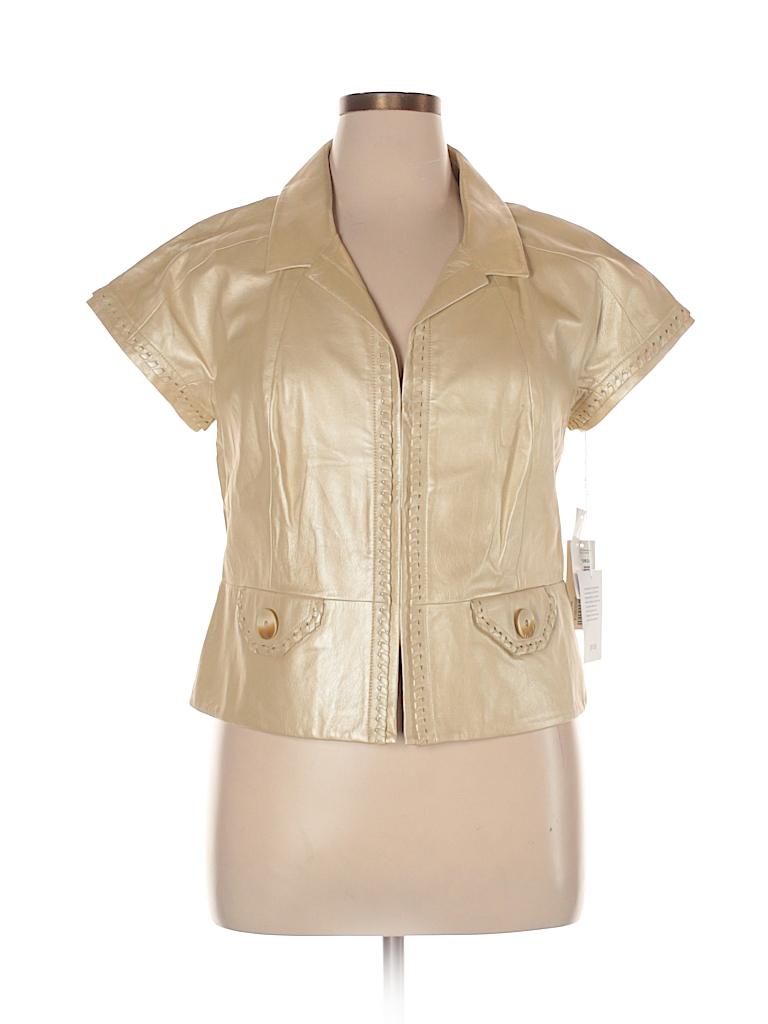 Per Se Women Leather Jacket Size 14
