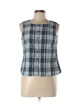Dockers Sleeveless Button-Down Shirt Size L