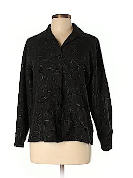 Sag Harbor Long Sleeve Button-Down Shirt Size L (Petite)