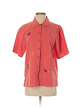 Bobbie Brooks Short Sleeve Button-Down Shirt Size S