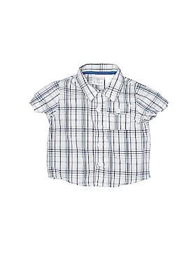 F.A.O Schwarz Short Sleeve Button-Down Shirt Size 0-3 mo