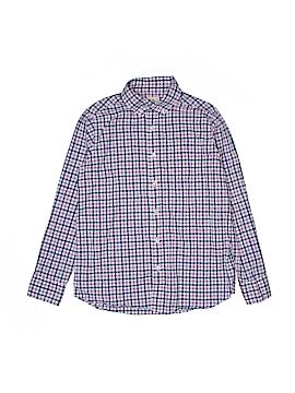 Lands' End Long Sleeve Button-Down Shirt Size 10-12