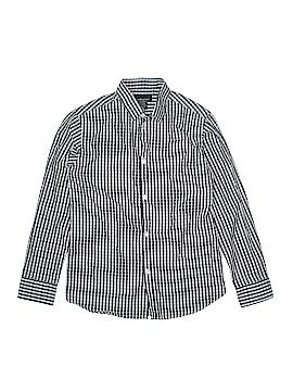 Van Heusen Long Sleeve Button-Down Shirt Size 10 - 12