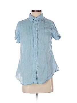 Coldwater Creek Short Sleeve Button-Down Shirt Size S (Petite)