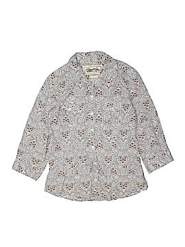 Seventeen 3/4 Sleeve Button-Down Shirt Size M