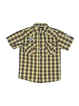 Makaveli Short Sleeve Button-Down Shirt Size 12
