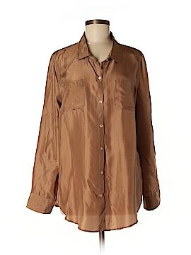 Calypso St. Barth Long Sleeve Silk Top Size M