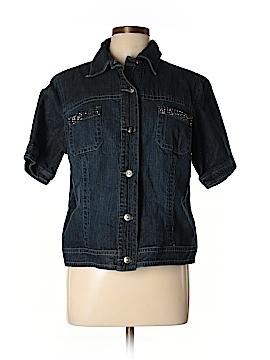 Chico's Denim Jacket Size Lg (2)