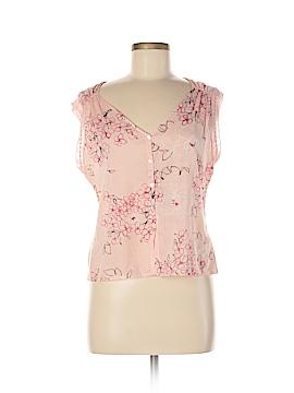 Studio M Sleeveless Button-Down Shirt Size M