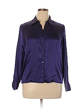 Preston & York Long Sleeve Silk Top Size 16