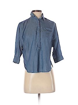 Ann Taylor LOFT 3/4 Sleeve Button-Down Shirt Size XXS