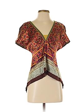 A Common Thread Short Sleeve Silk Top Size S