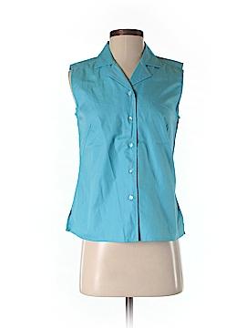 Casual Corner Sleeveless Button-Down Shirt Size S