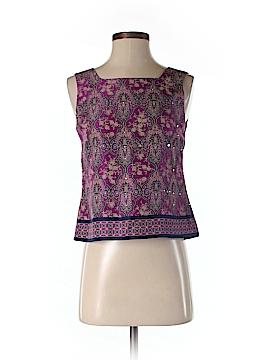 Petite Sophisticate Sleeveless Silk Top Size 2