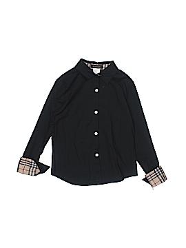 Burberry Long Sleeve Button-Down Shirt Size 6
