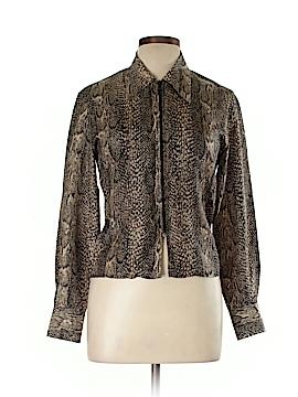 Newport News Long Sleeve Silk Top Size 6