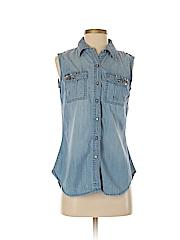 INC International Concepts Women Sleeveless Button-Down Shirt Size 4