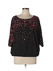 Worth New York Women 3/4 Sleeve Blouse Size L