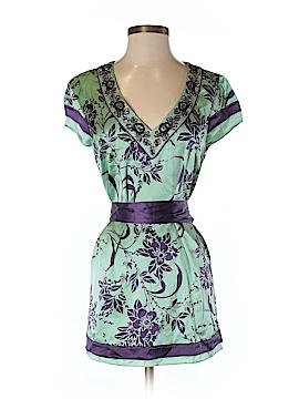 Love Token Short Sleeve Silk Top Size S