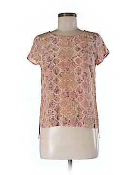 Fynn & Rose Short Sleeve Silk Top Size XS