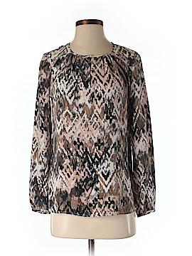 Ecru Long Sleeve Silk Top Size XS