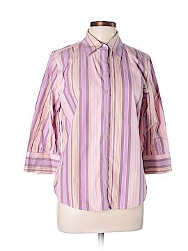 Eddie Bauer 3/4 Sleeve Button-Down Shirt Size L