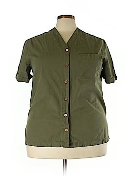 Casual Corner Annex Short Sleeve Button-Down Shirt Size 1X (Plus)