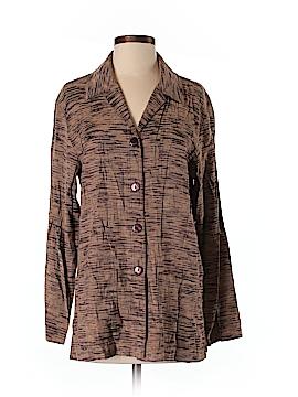 Sag Harbor Long Sleeve Button-Down Shirt Size S